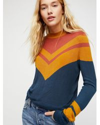 Free People   Multicolor Show Off Your Stripes Pullover   Lyst