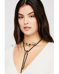 Free People - Black Behind The Sun Bolo Necklace - Lyst