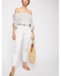 Free People - White Cali Top - Lyst