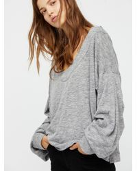 Free People - Gray Lucky Charm Pullover - Lyst