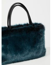 Free People - Blue Rosa Faux Fur Tote - Lyst
