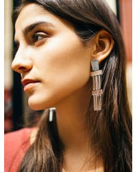 Free People - Metallic Ibiza Plate Earrings - Lyst