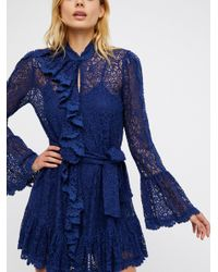 Free People - Blue Dreams Of You Mini Dress - Lyst