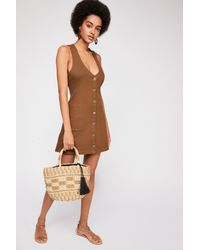 Free People - Green Scarlet Mini Dress By Fp Beach - Lyst