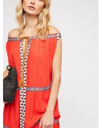 Free People - Red Layla Maxi Dress - Lyst