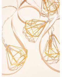 Free People - Metallic Shine On Geo Frame String Lights - Lyst