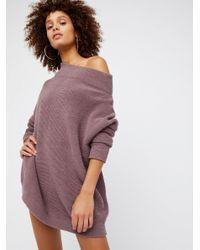 Free People - Brown Ottoman Slouchy Tunic Jumper - Lyst