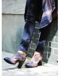 Free People - Blue Deep V Ankle Boot - Lyst