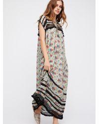 Free People - Gray Clothes Dresses Maxi Dresses Sabina Boho Dress - Lyst