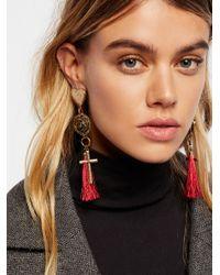Free People - Black Suki Charm Drop Dangle Earrings - Lyst