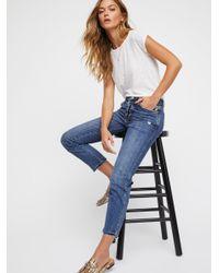 Free People - Blue Clothes Jeans Slim Boyfriend Jeans - Lyst