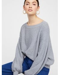 Free People Gray Found My Friend Sweatshirt