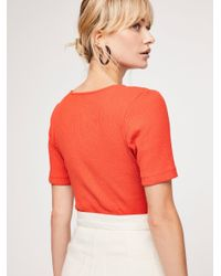 Free People - Red Sweetheart Tee - Lyst