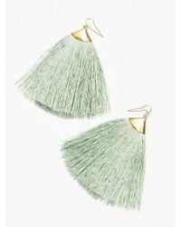 Free People | Green Dusting Tassel Earrings | Lyst