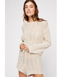 c5595ca0e8f Lyst - Free People Bali Babe Sweater Romper By Fp Beach in White