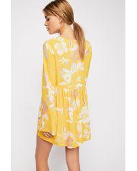 030170361cf Free People Bella Printed Tunic in Yellow - Lyst