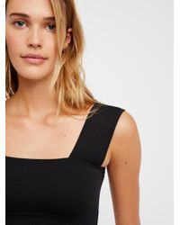 Free People - Black Such A Square Crop - Lyst