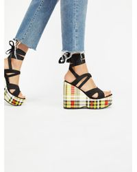 Free People | Black Kelly Platform Wedge | Lyst
