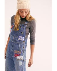 Free People - Blue Billy Hill Overalls By Riley Vintage - Lyst