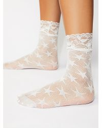 Free People - White Count Your Stars Net Anklet - Lyst
