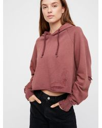 Free People Red Much Loved Hoodie