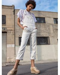 Free People   White The Boyfriend Overall   Lyst