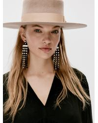 Free People - Black Palmdale Color Crystal Earrings - Lyst