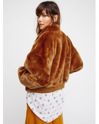Free People - Multicolor Furry Bomber - Lyst