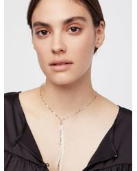 Free People - Natural Glistening Delicate Feather Necklace - Lyst