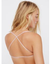 Free People - Green Essential Lace Racerback - Lyst