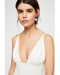 Free People - White Hot Stuff Bodysuit By Intimately - Lyst