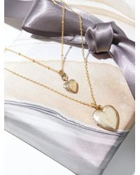Free People - Black Double Locket Necklace - Lyst