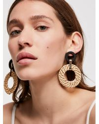 Free People - Natural Wicker Wishes Earring - Lyst