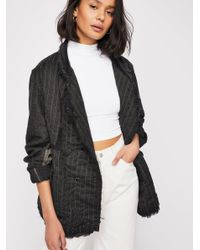 Free People - Blue Modernism Coat - Lyst