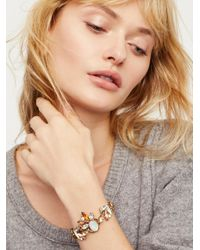 Free People - Multicolor Frozen Flowers Stone Bracelet - Lyst