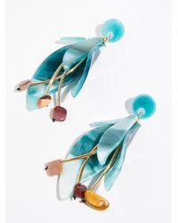 Free People - Blue Blossom Resin Earrings By Zhuu - Lyst