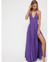 Free People - Purple Lille Maxi Dress - Lyst