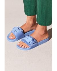 ffdc4fe5f03c Lyst - Free People Dr Scholls Pool Slide Sandal in Blue