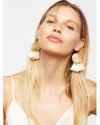 Free People - White Lunar Rays Tassel Earrings - Lyst