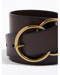 Free People - Brown Eternity Leather Belt - Lyst