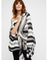 Free People - Black Runaway Convertible Poncho - Lyst