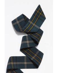Free People - Green Delaney Plaid Necktie - Lyst