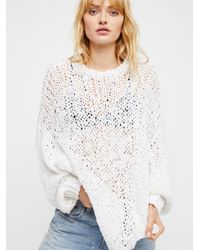 Free People - White Beach Girl Sweater - Lyst