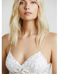 Free People - White Lacey Lace Brami - Lyst