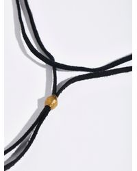 Free People - Black Short Leather Wrap Bolo Necklace - Lyst