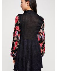 Free People - Black Rose And Shine Sweater Dress - Lyst