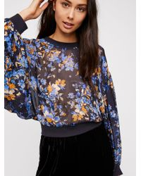 Free People - Blue Clothes Tops & Tees Blouses Dancing Dreams Blouse - Lyst