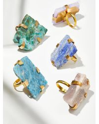 Free People - Blue Large Raw Stone Ring - Lyst