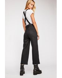 1ff747fbfa8 Lyst - Free People Belted Twill Jumpsuit By We The Free in Black