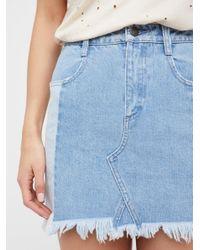 Free People - Blue Morning Daze Mini Skirt - Lyst